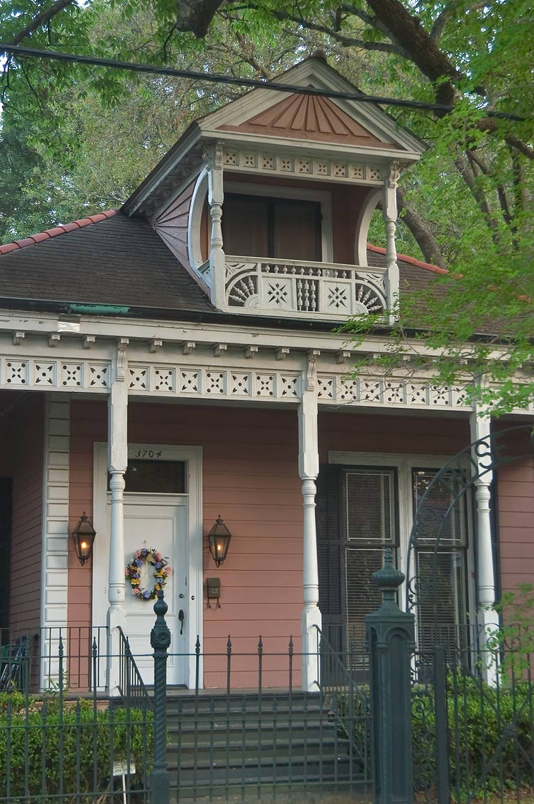 Rosewood center hall (Whann house) at 3704...Amelia St.. New Orleans, Louisiana