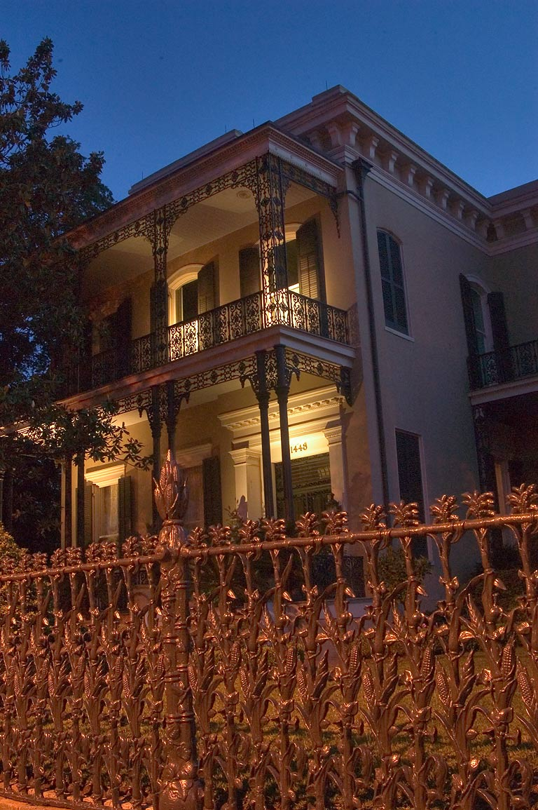Colonel Short's Villa, with cornstalk fence, at...District. New Orleans, Louisiana