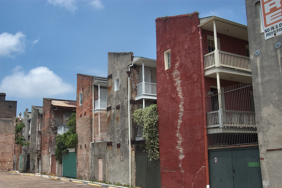 Apartment houses near Camp St., view from a...District. New Orleans, Louisiana