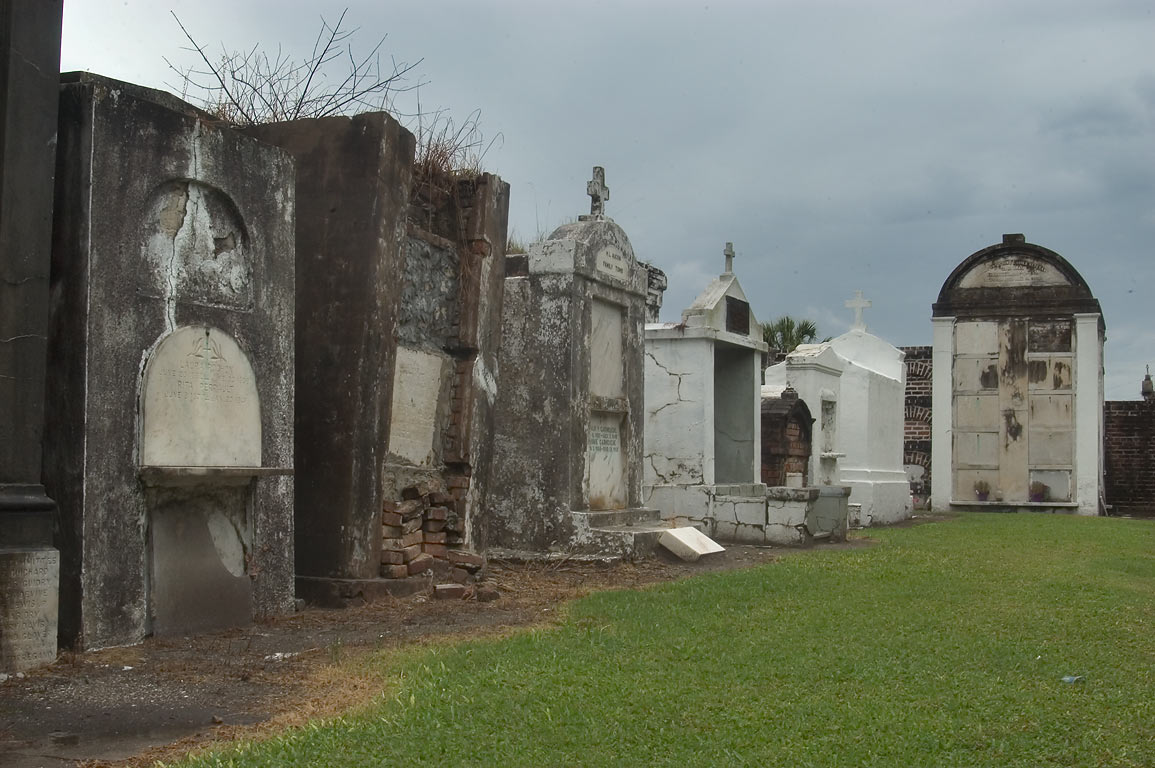 Tombscape of St.Louis Cemetery No. 2. New Orleans, Louisiana
