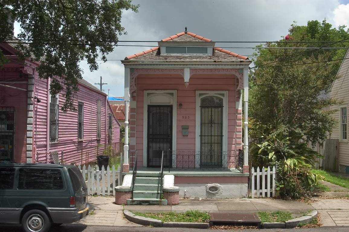 "Shotgun"" house in the area of Dauphine St. in Bywater. New Orleans, Louisiana"