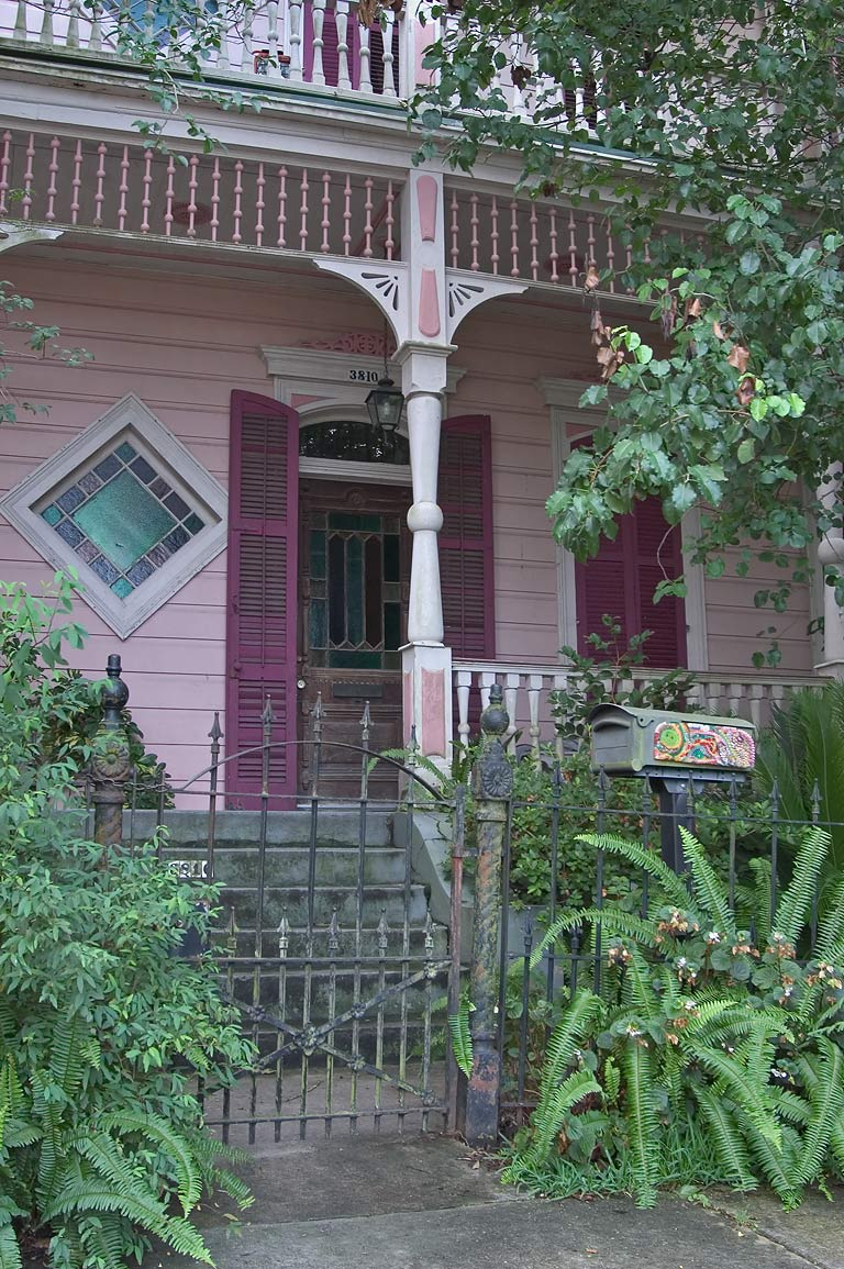 A house at 3810 Burgundy St. in Bywater. New Orleans, Louisiana