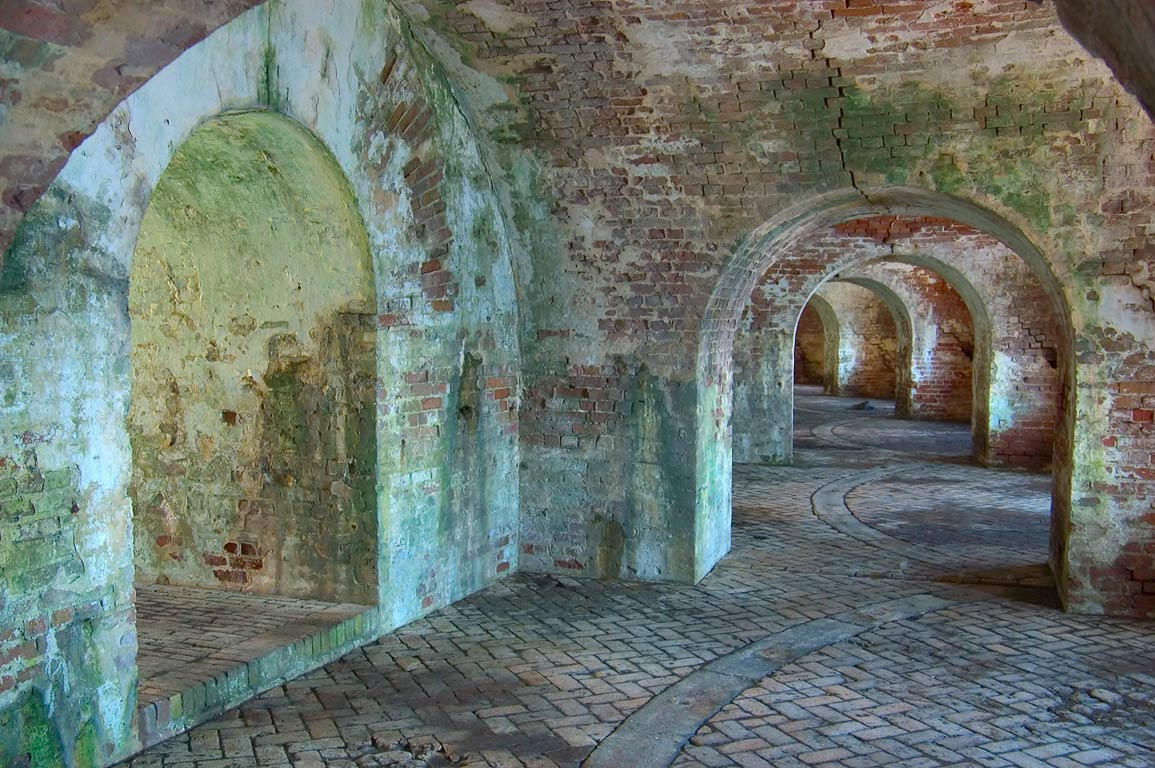 Casemates of Fort Pike. New Orleans, Louisiana