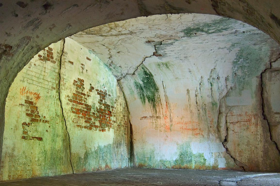 A chamber in casemates of Fort Pike. New Orleans, Louisiana