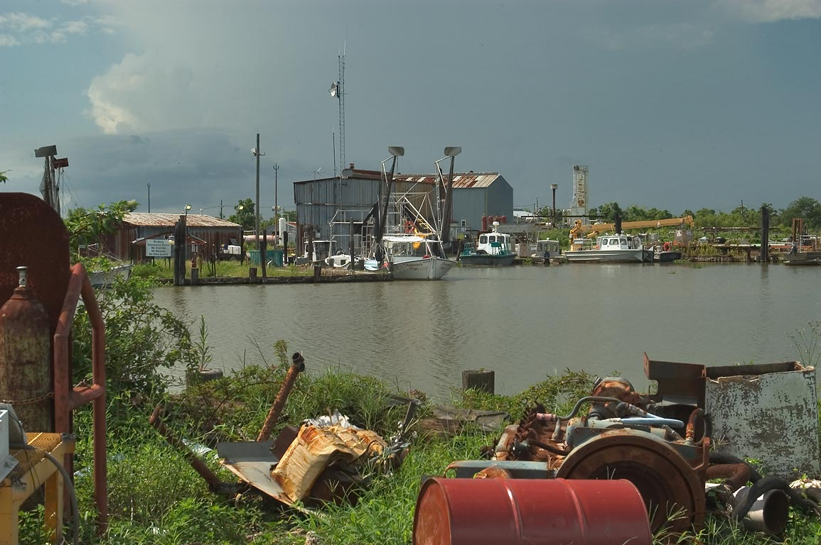 A dumping site at the end of Tidewater Rd., Plaquemine Parish. Louisiana