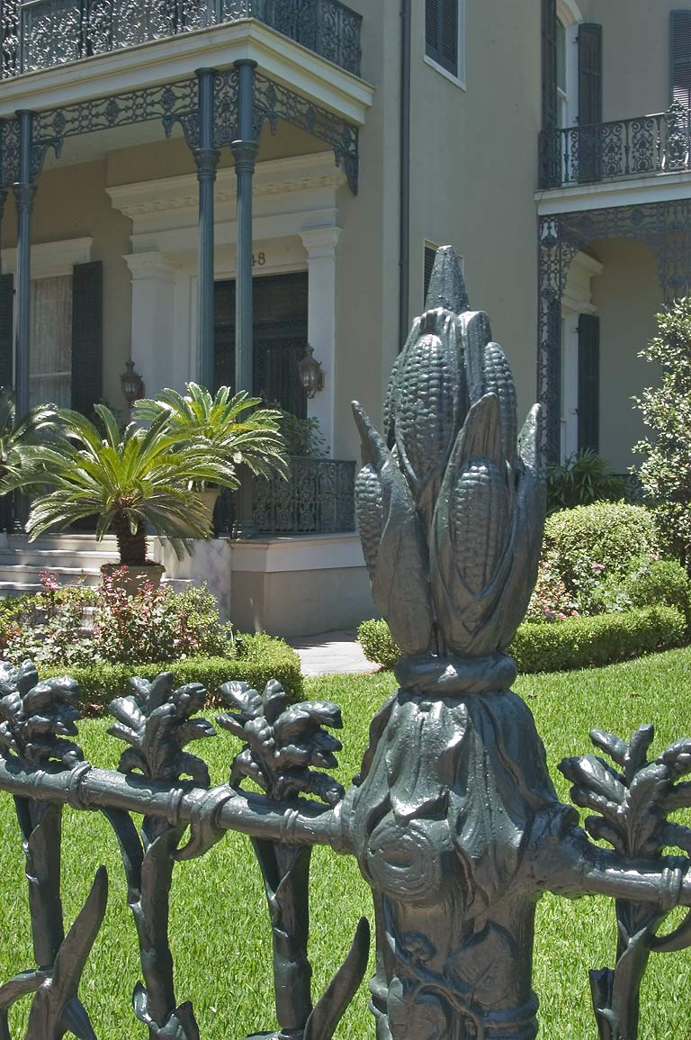 A cornstalk fence of Colonel Short's Villa at...District. New Orleans, Louisiana