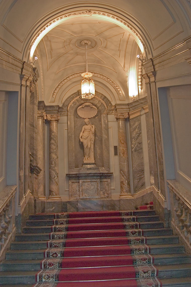 Stairs in Marble Palace. St.Petersburg, Russia