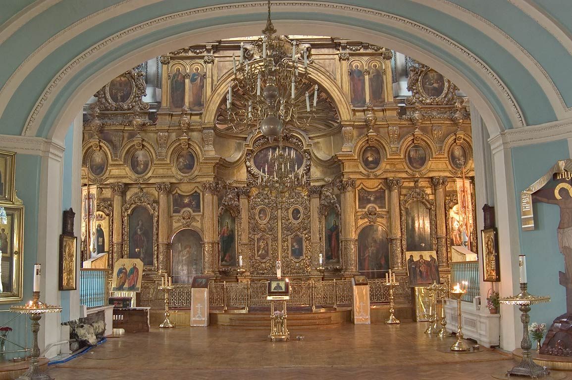 Interior of Andreevsky Cathedral (Cathedral of St...Ostrov. St.Petersburg, Russia