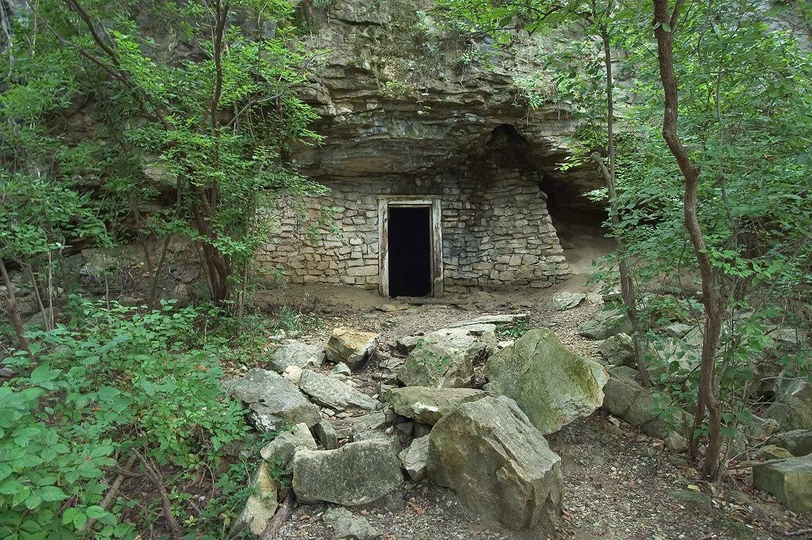 Railroad's explosives bunker near Katy Trail east from Rocheport, mile 177.5. Missouri