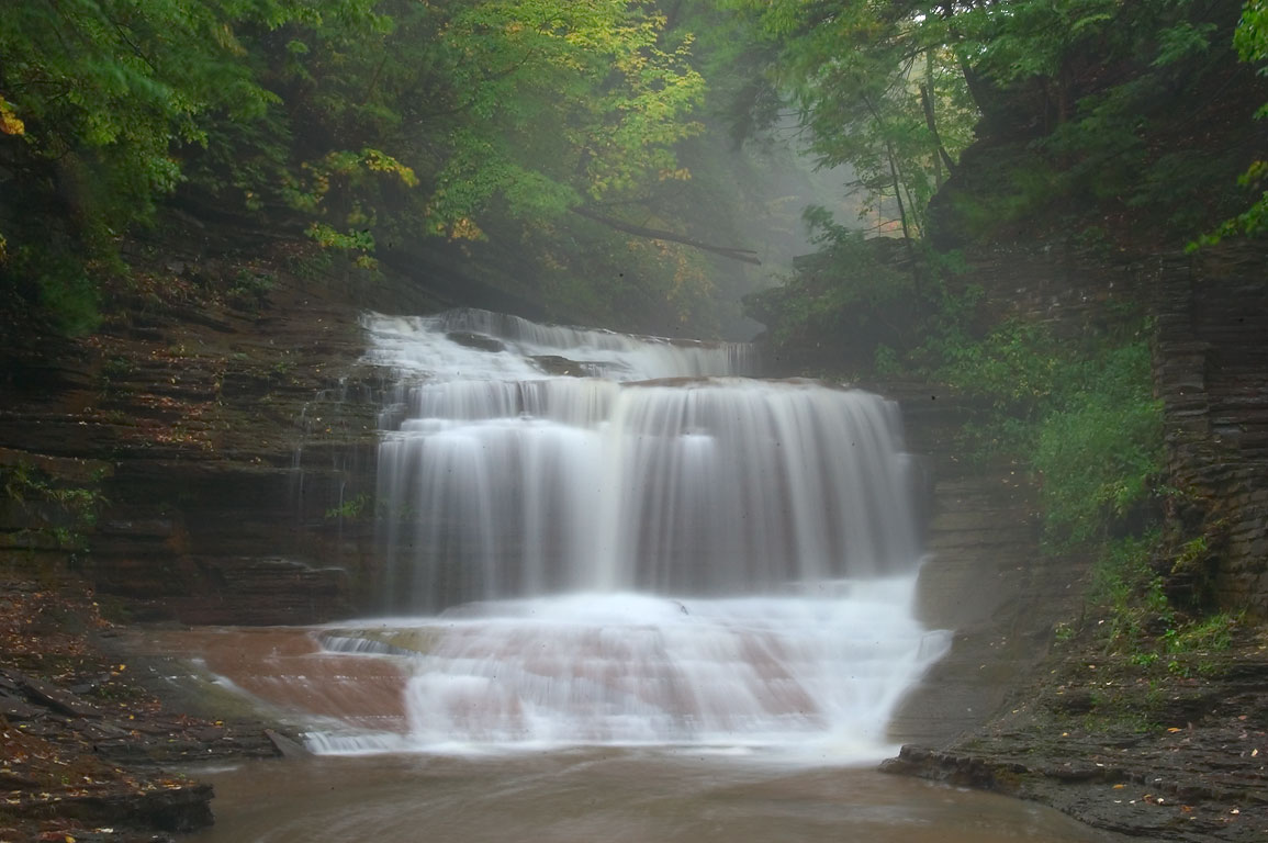 One of waterfalls in Robert H. Treman State Park near Ithaca. New York