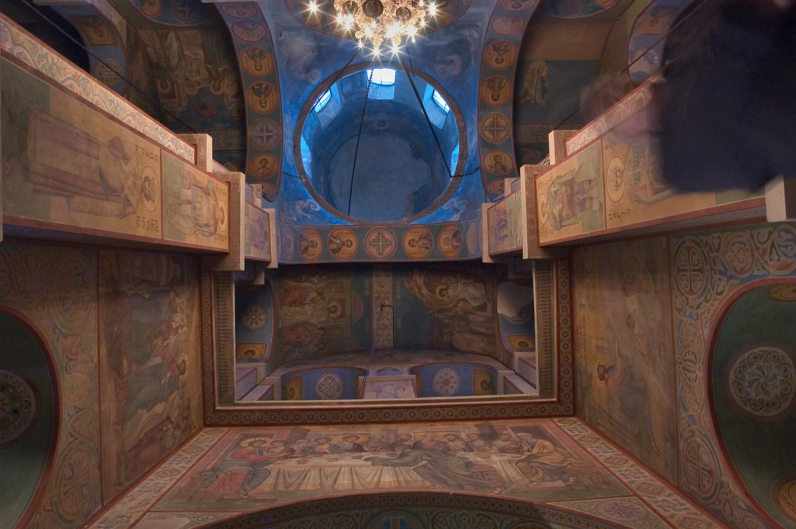 Interior of Sophia Cathedral. Novgorod, Russia
