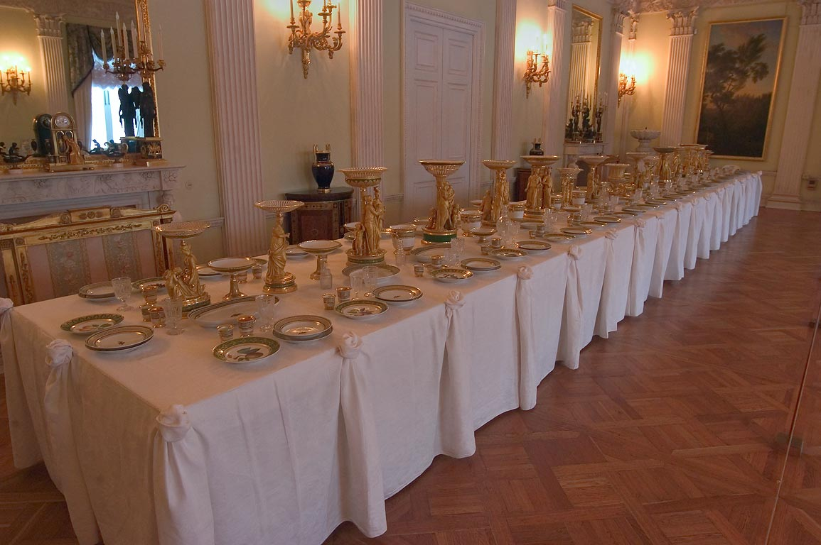 A dining hall in Pavlovsky Palace. Pavlovsk, suburb of St.Petersburg, Russia