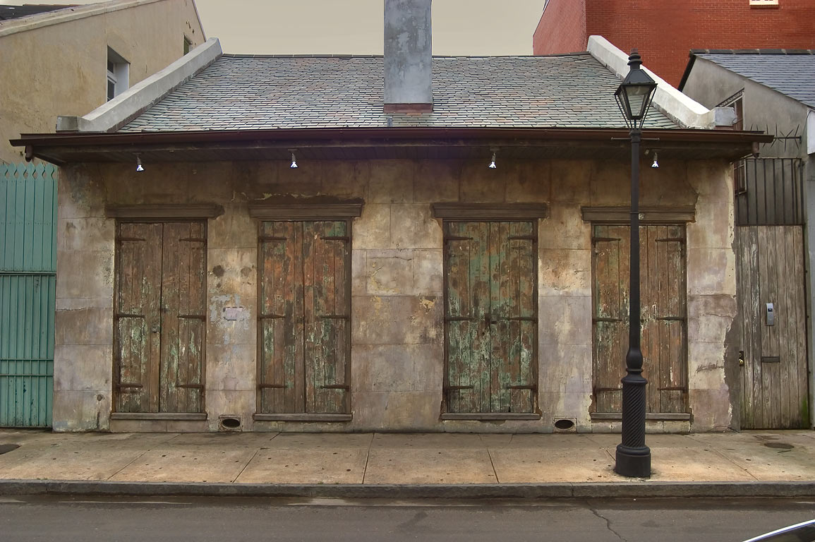 A Creole cottage on Dauphine St. in French Quarter. New Orleans, Louisiana