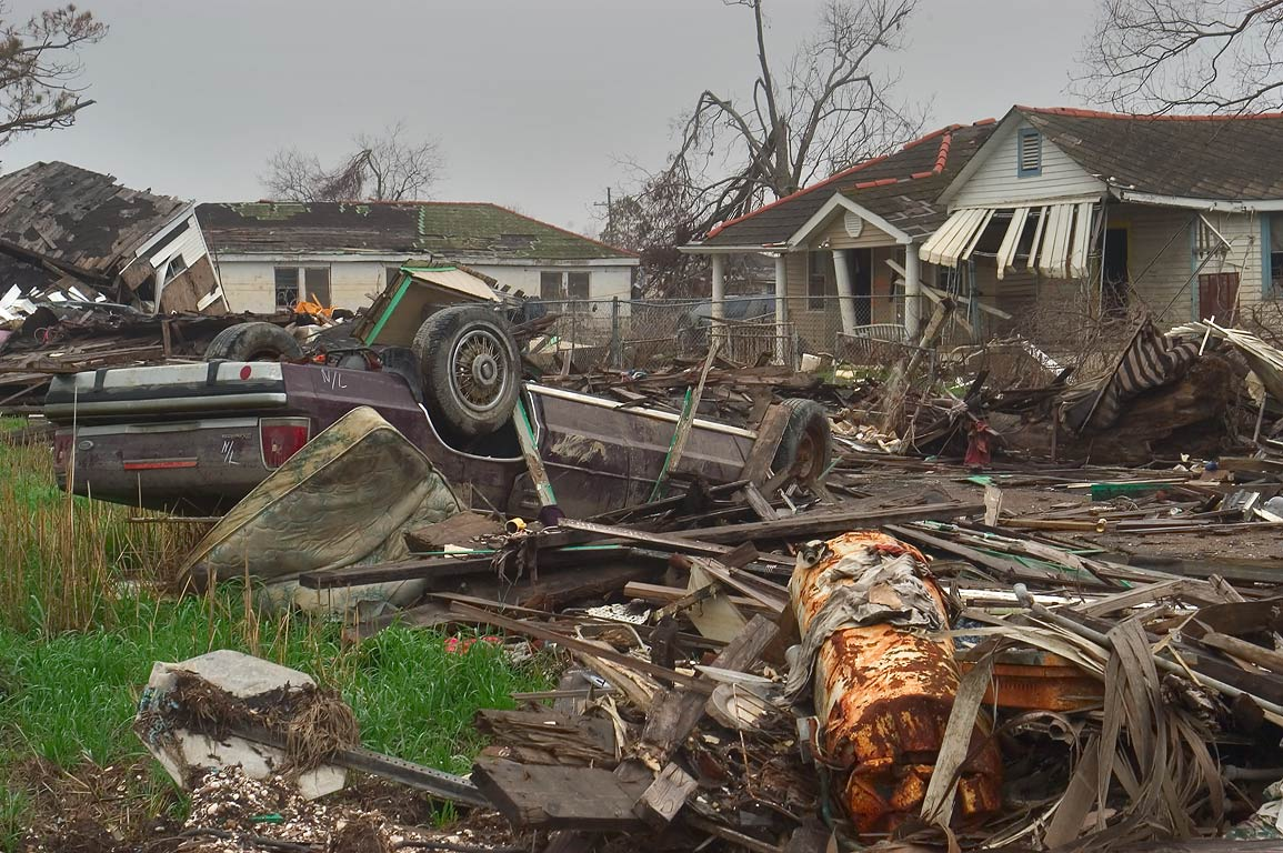 Ruins at Roffignac St. in Lower Ninth Ward. New Orleans, Louisiana
