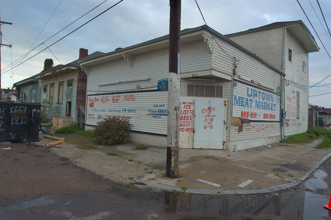 Uptown Meat Market at 2001 Danneel St., a corner of Seventh St.. New Orleans, Louisiana