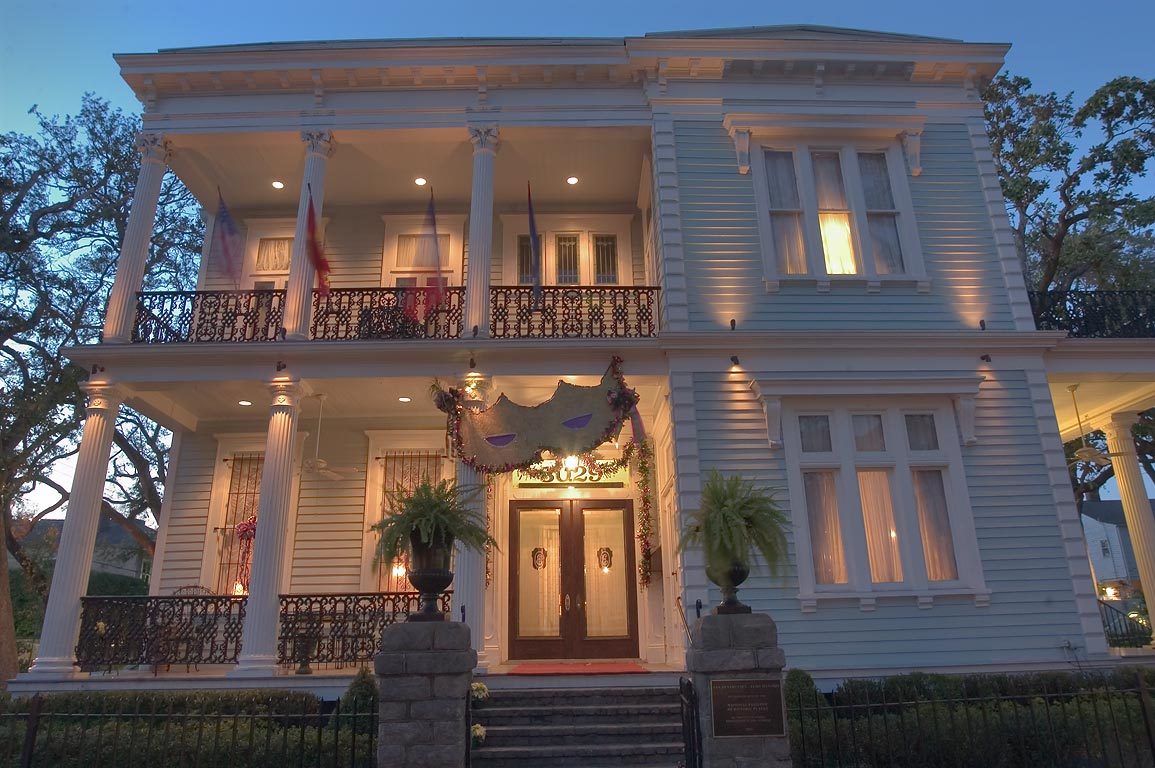 Van Benthuysen-Elms Mansion (c. 1869) at 3029 St...at evening. New Orleans, Louisiana