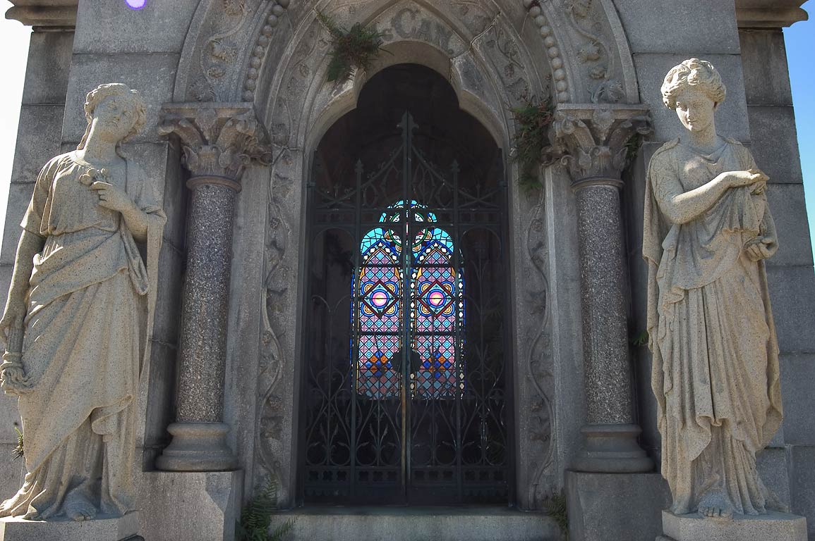 A tomb of David C. McCann in Metairie Cemetery. New Orleans, Louisiana