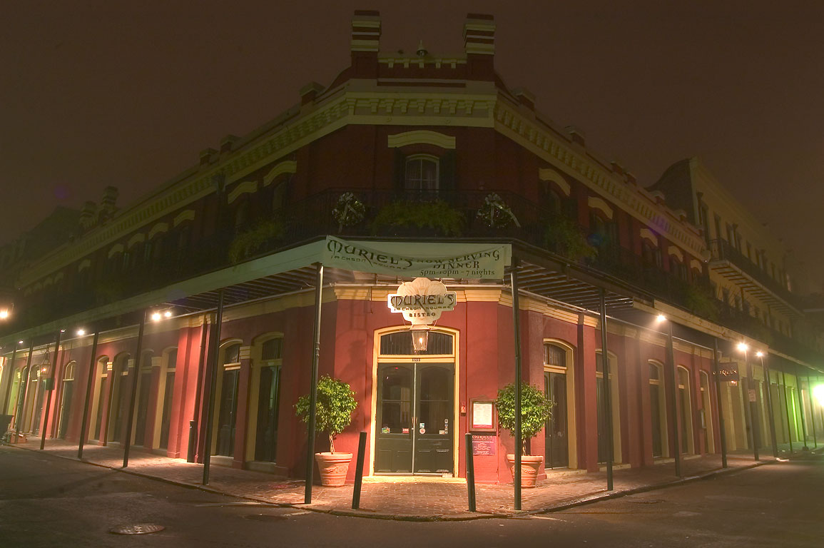 Muriel's building at a corner of Chartres and St...early morning. New Orleans, Louisiana