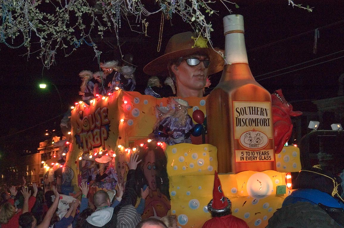 "Souse Trap"" float of krewe of Muses at Mardi Gras...Charles Ave.. New Orleans, Louisiana"
