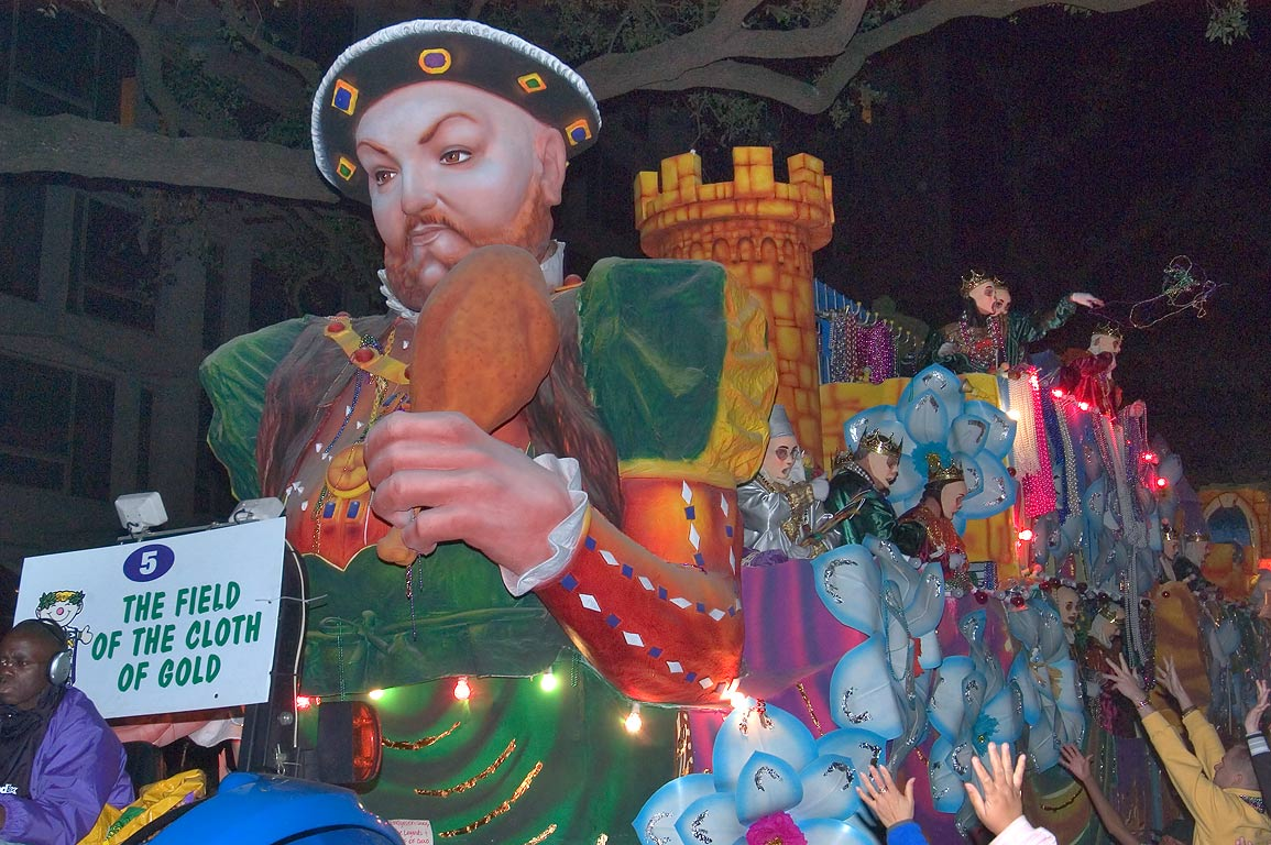 "Float No. 5 ""The Field of the Cloth of Gold"" of...Charles Ave.. New Orleans, Louisiana"