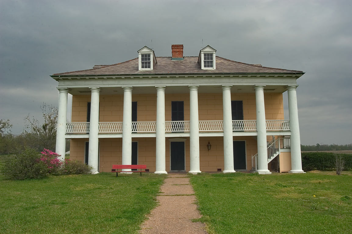 Malus-Beauregard House in Chalmette Battlefield...the levee side. New Orleans, Louisiana