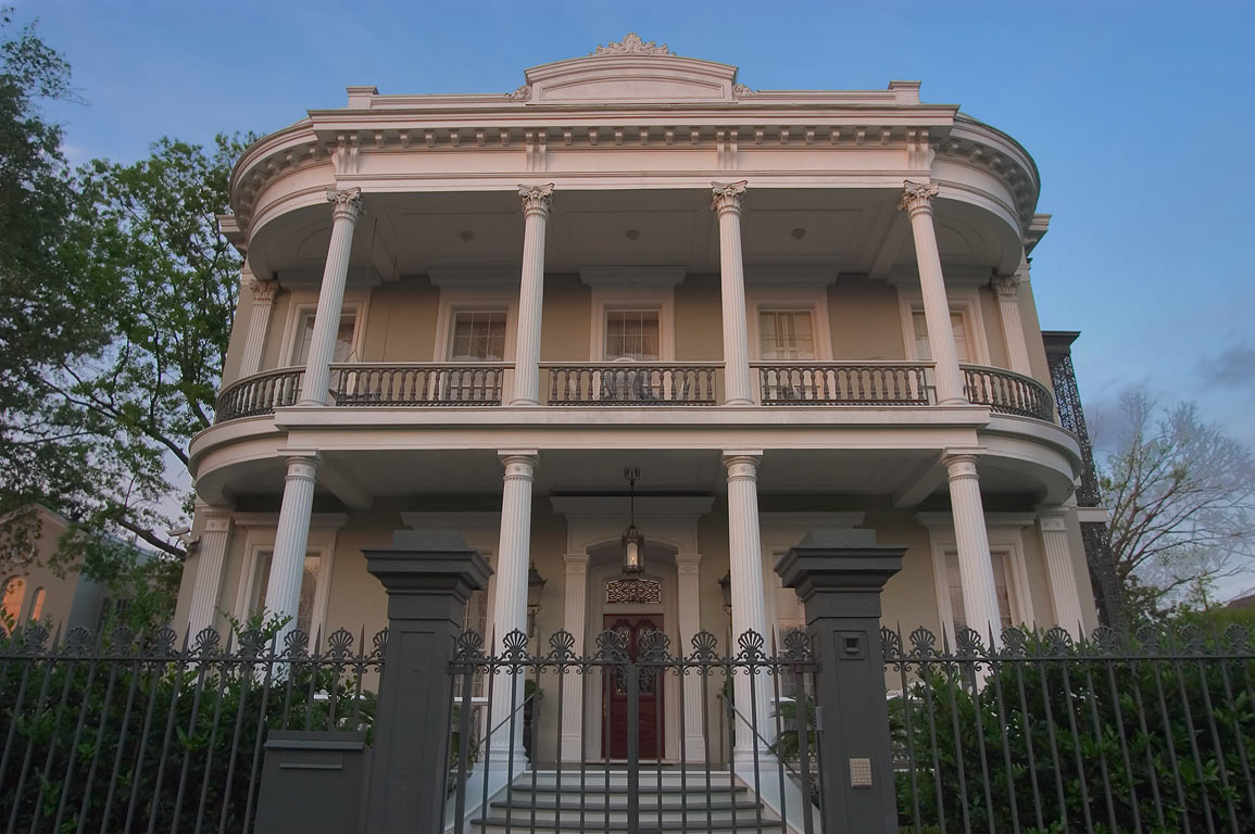 Robinson House at 1415 3rd St. in Garden District. New Orleans, Louisiana