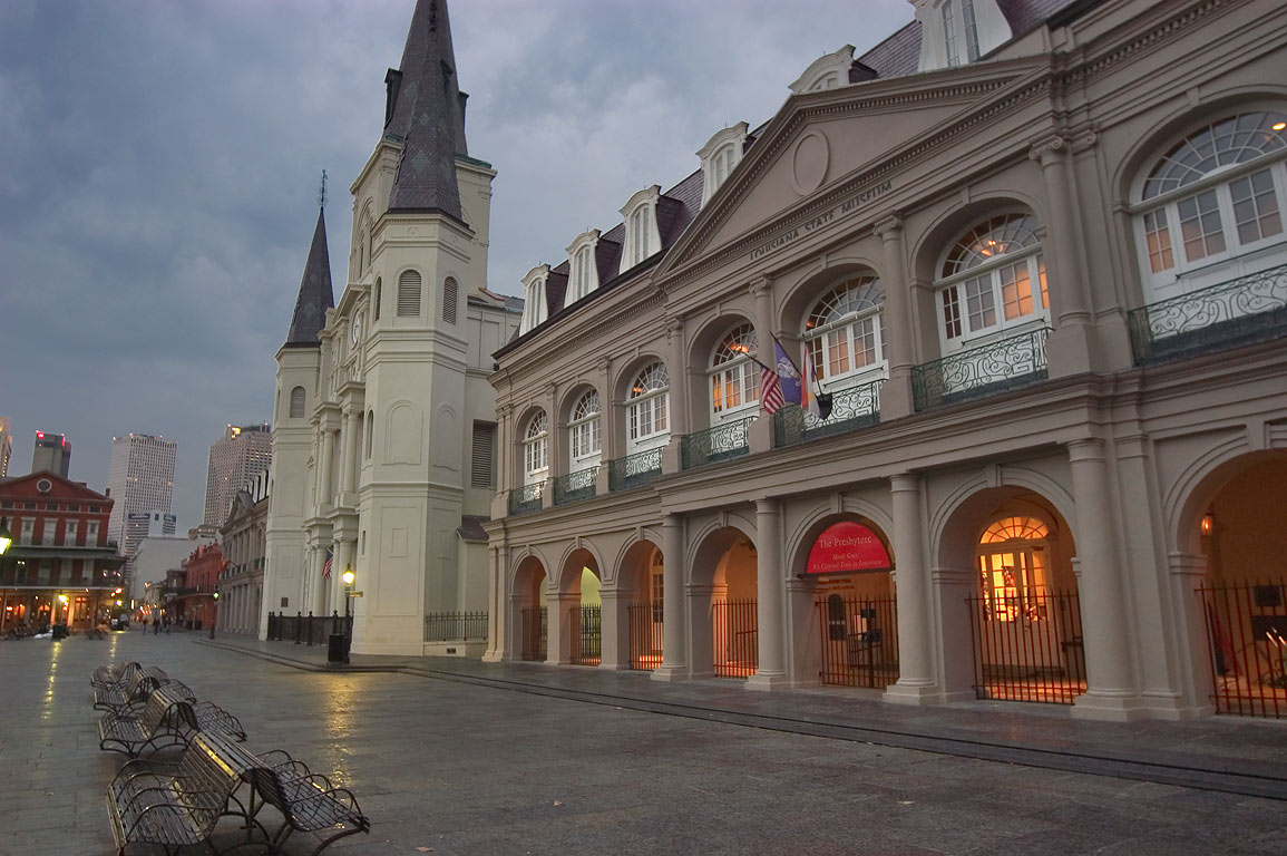 The Presbytere (a part of the Louisiana State...French Quarter. New Orleans, Louisiana