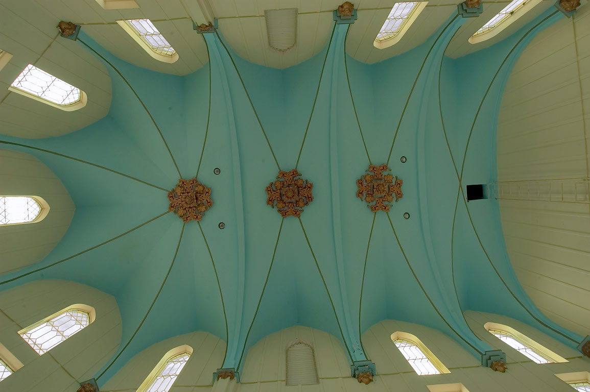 Vaulted ceiling of Chapel of St.Roch Cemetery. New Orleans, Louisiana