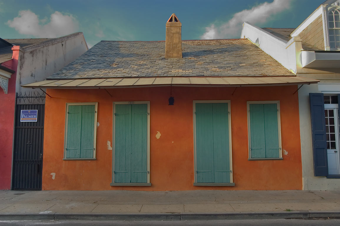 Dolliole-Masson Cottage (1805) at 933 St.Philip...French Quarter. New Orleans, Louisiana
