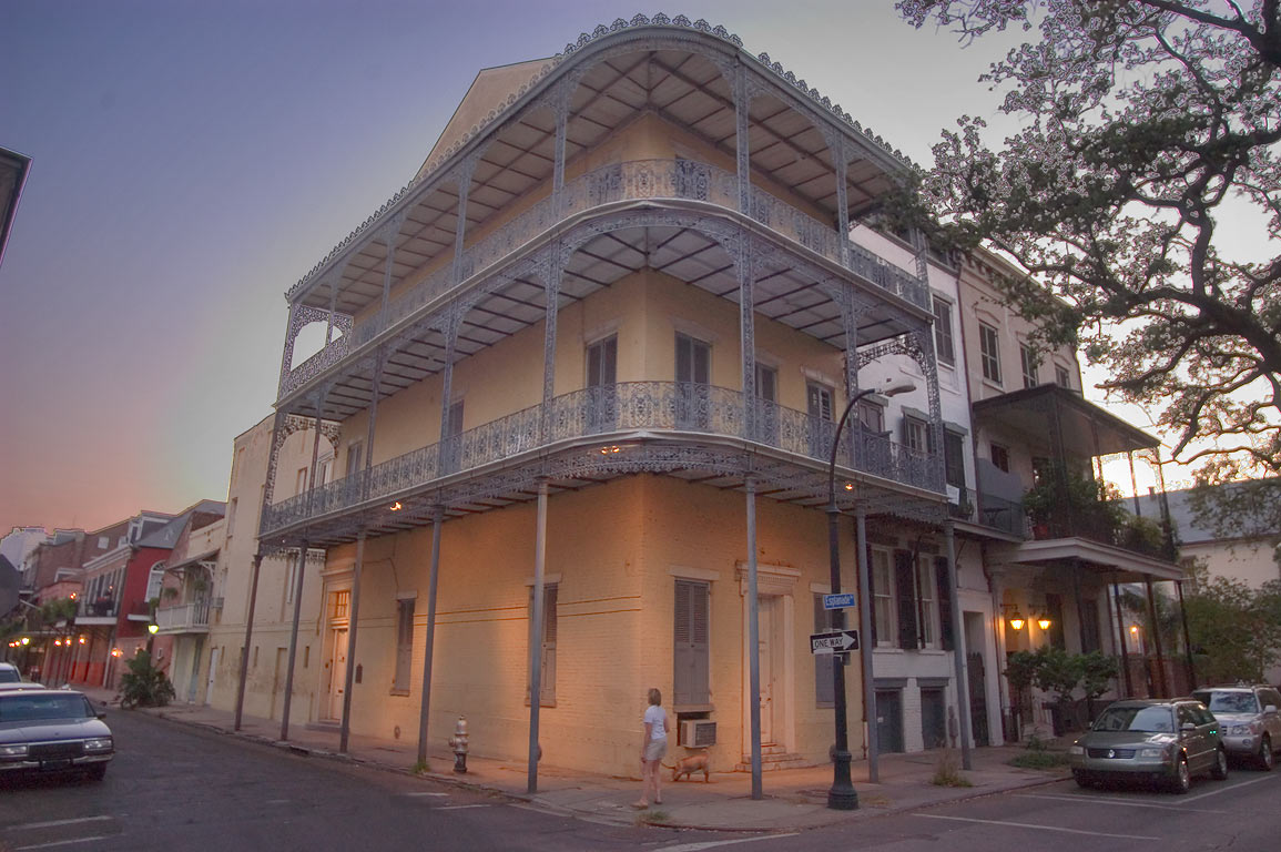Denis-Morphy-Barnett Houses (1834) at 602-6...French Quarter. New Orleans, Louisiana