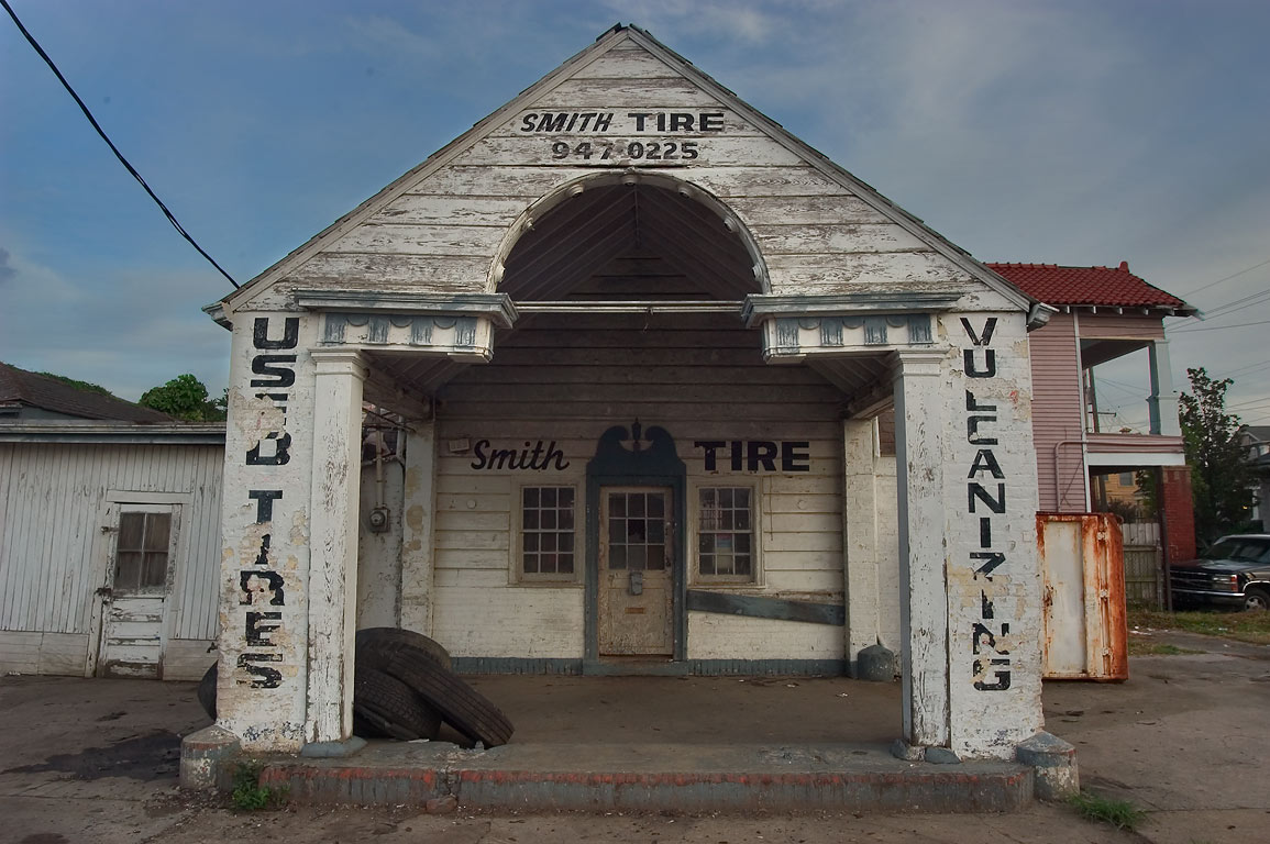 Smith Tire on a corner of St.Claude Ave. and...Marigny. New Orleans, Louisiana