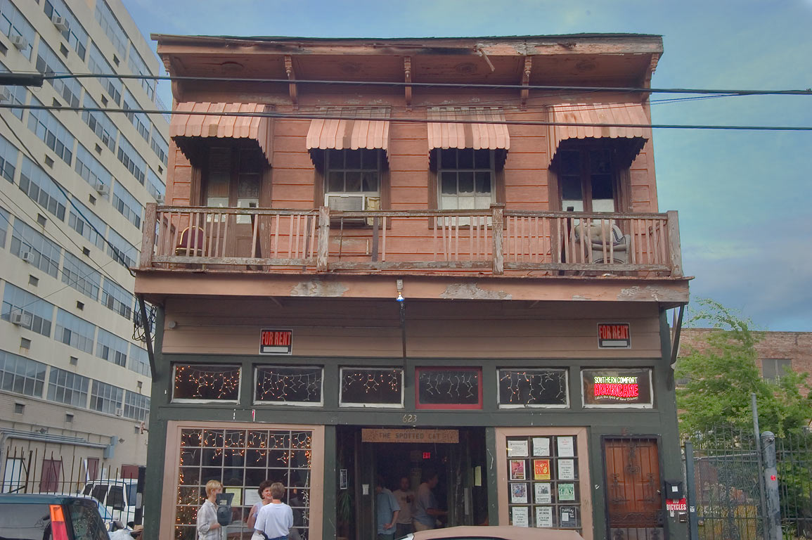 The Spotted Cat restaurant at 623 Frenchman St...Marigny. New Orleans, Louisiana