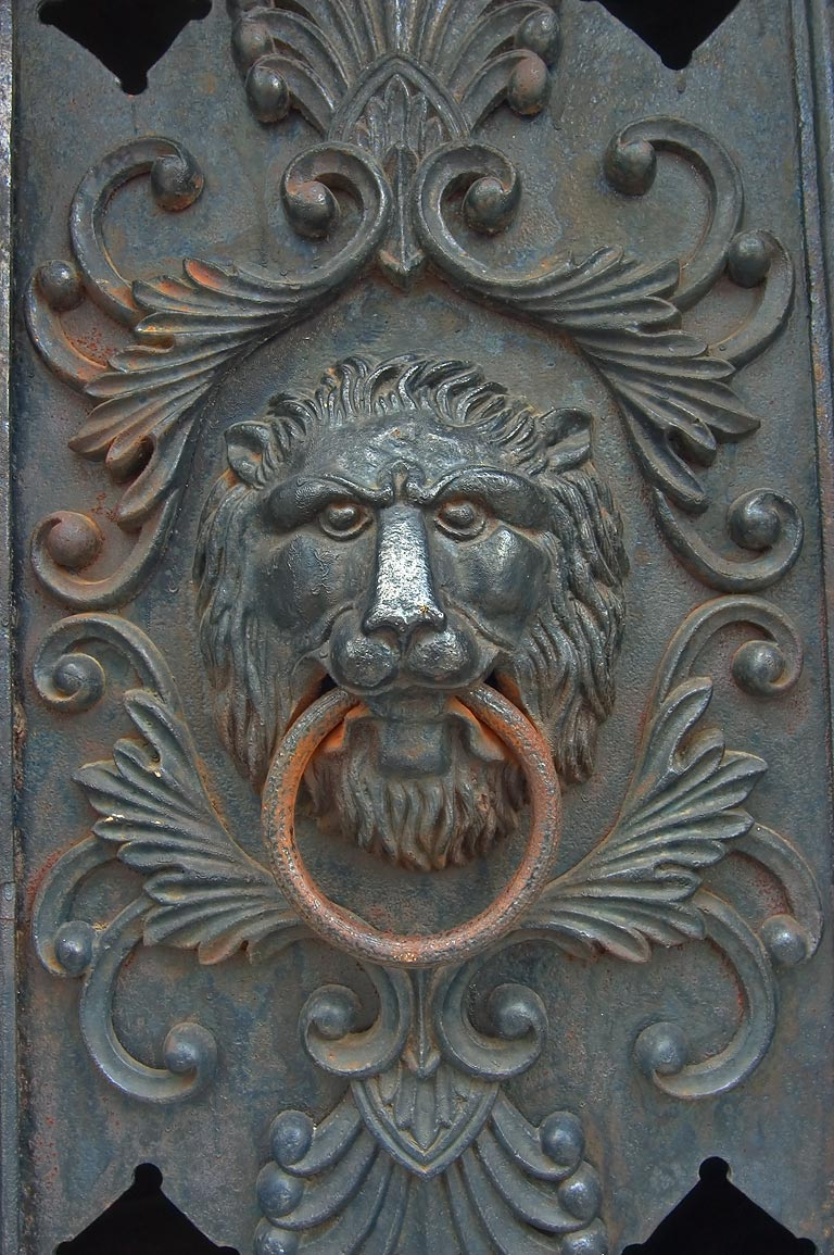 Iron door on a vault of Italian Mutual Benefit...Cemetery No. 1. New Orleans, Louisiana