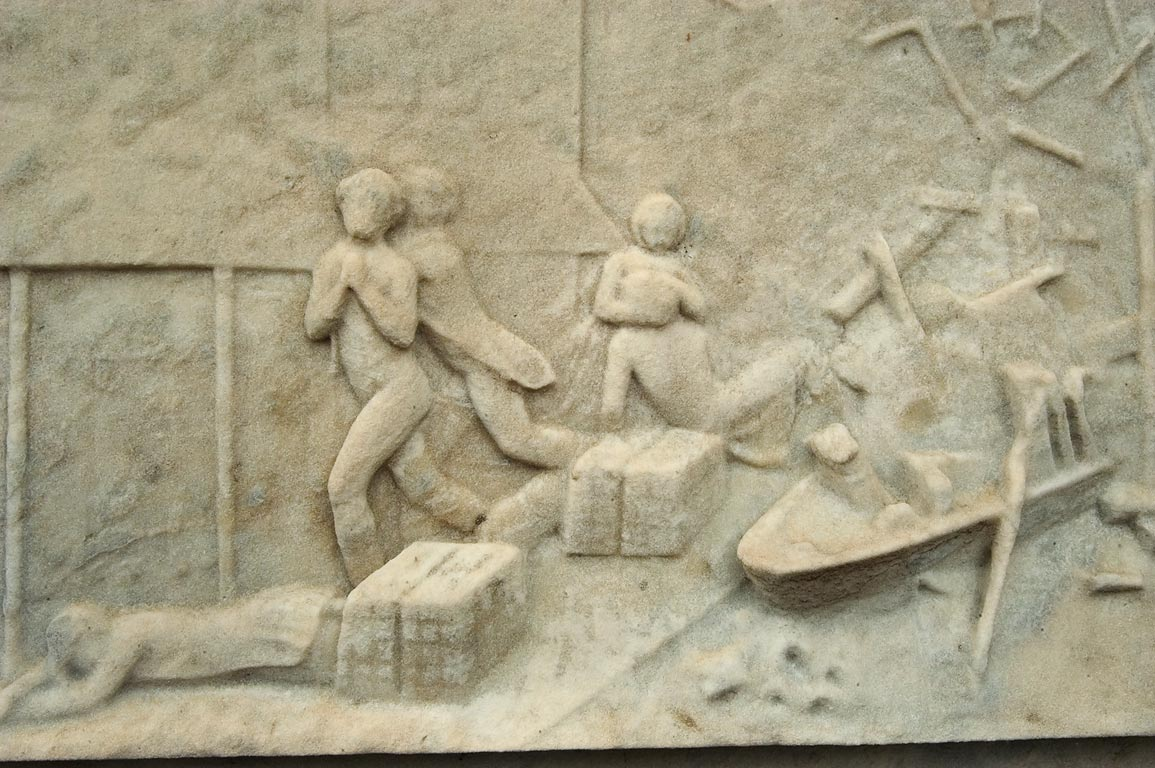 Shipwreck scene on a tomb erected by Joseph...Cemetery No. 2. New Orleans, Louisiana