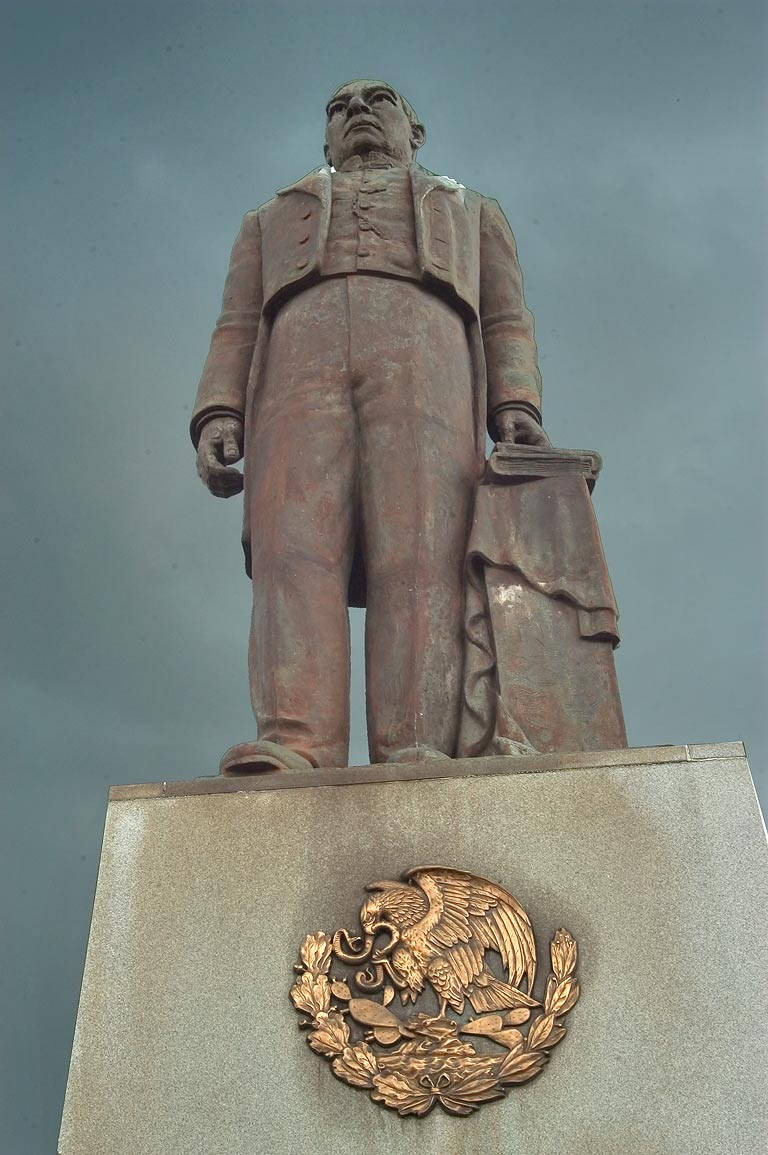 A monument of Benito Juarez (1806-1872) on Basin St.. New Orleans, Louisiana