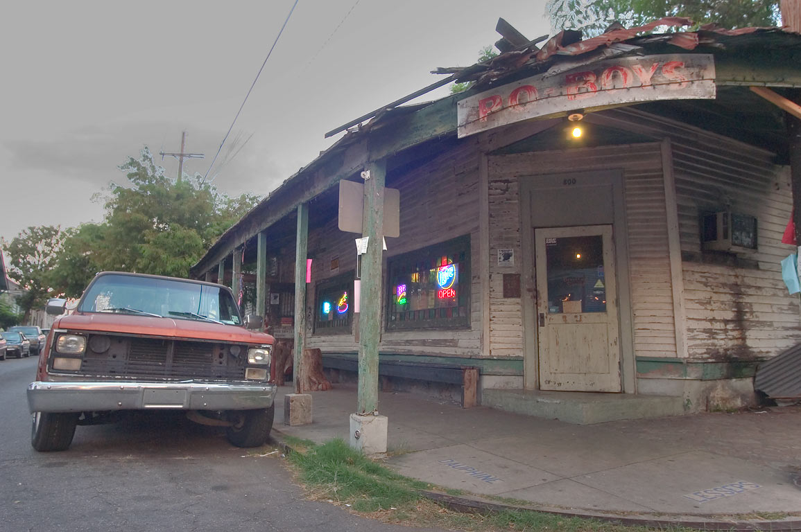 "Vaughan's Lounge (sandwich ""Po-Boys"" cafe) at...in Bywater. New Orleans, Louisiana"