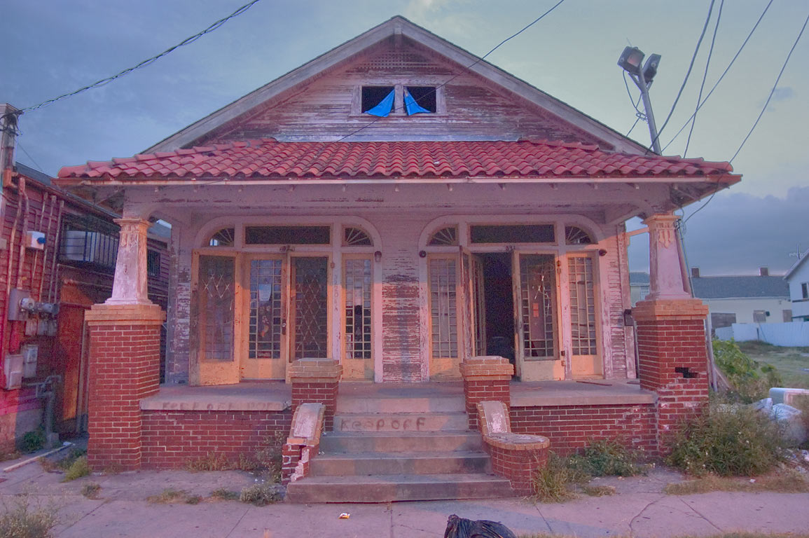 A house at 3220 St.Claude Ave. near Piety St. in...at evening. New Orleans, Louisiana