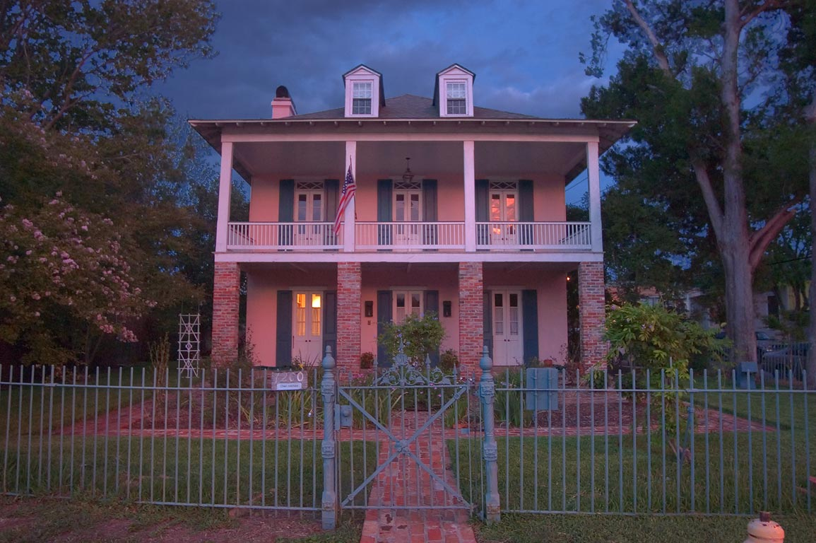 A house at 1200 East Moss St. at a corner of Bell...neighborhood. New Orleans, Louisiana