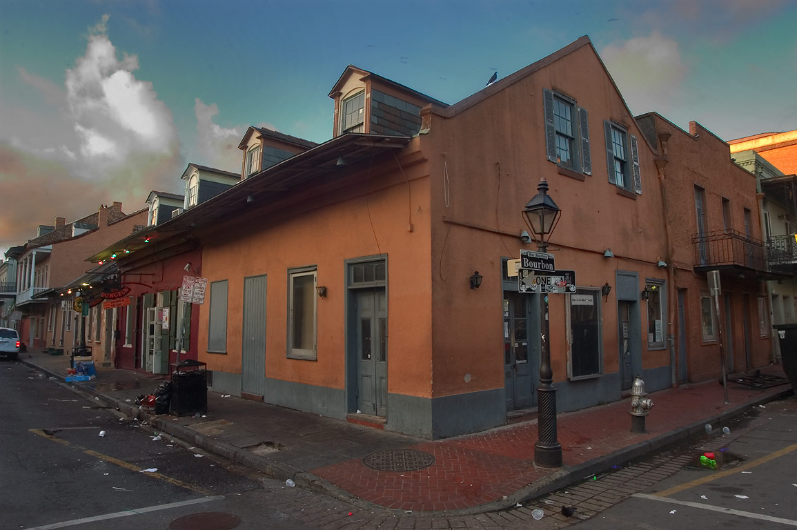 A corner of Governor Nicholls and Bourbon streets...French Quarter. New Orleans, Louisiana