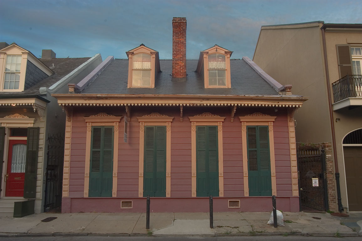 A cottage near 818 Ursulines St. in French Quarter. New Orleans, Louisiana