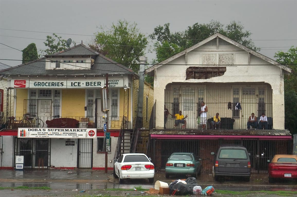 St.Claude Ave. near Clouet St. in Bywater. New Orleans, Louisiana