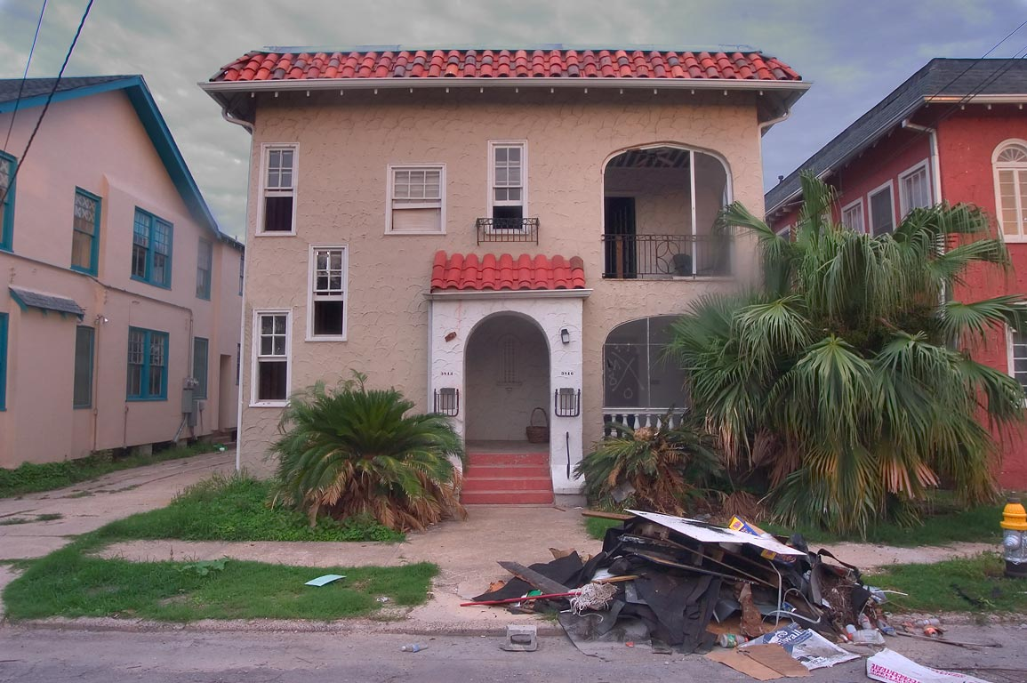 Abandoned house at 3814-3816 State St. near...neighborhood. New Orleans, Louisiana