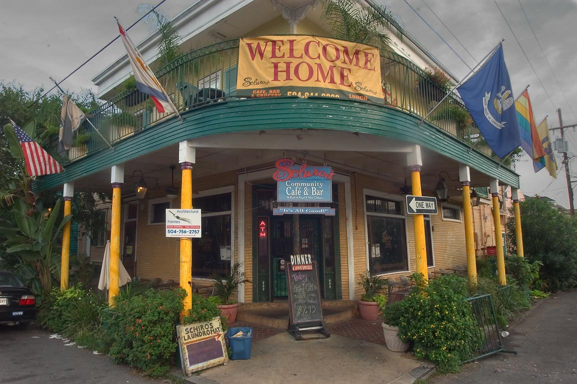 Schiro's Community Cafe and Bar at a corner of St...Marigny. New Orleans, Louisiana