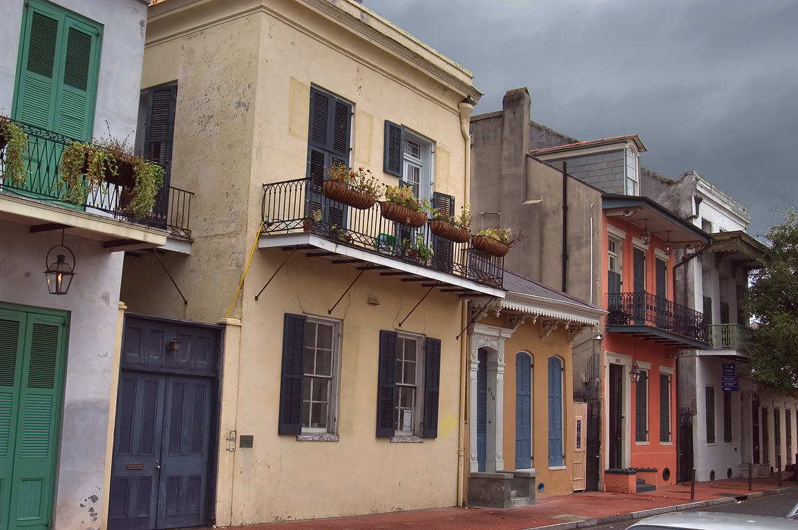 St.Peter Street in French Quarter. New Orleans, Louisiana