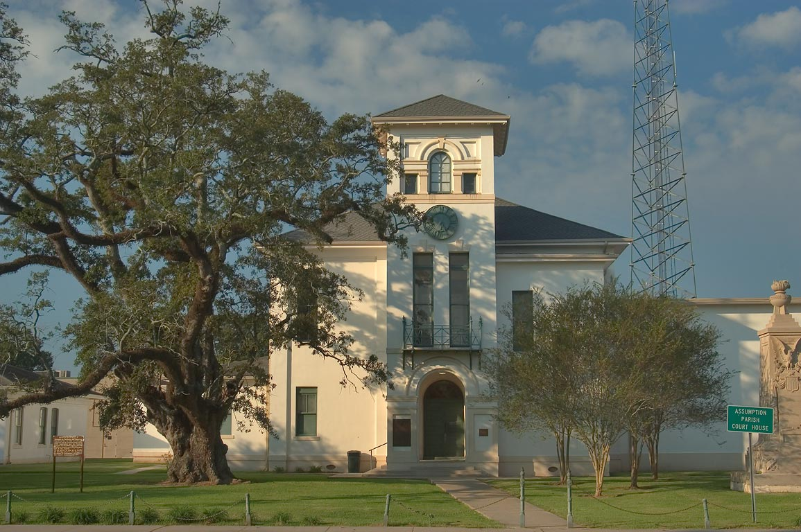 Assumption Parish Court House in Napoleonville. Louisiana