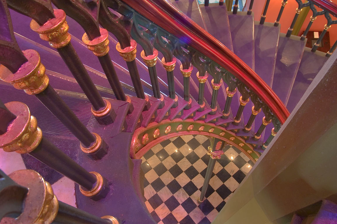 A spiral cast iron staircase in Old State Capitol. Baton Rouge, Louisiana