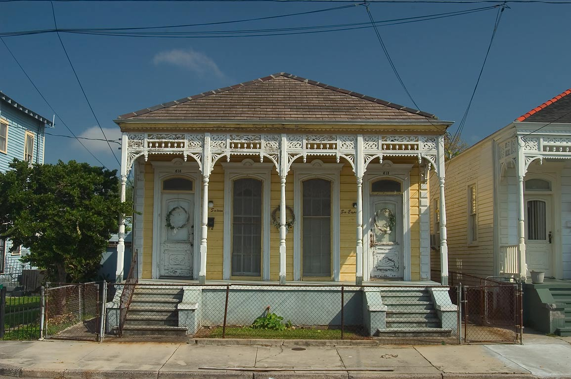A cottage on Bouny St. near Eliza St. in Algiers Point. New Orleans, Louisiana