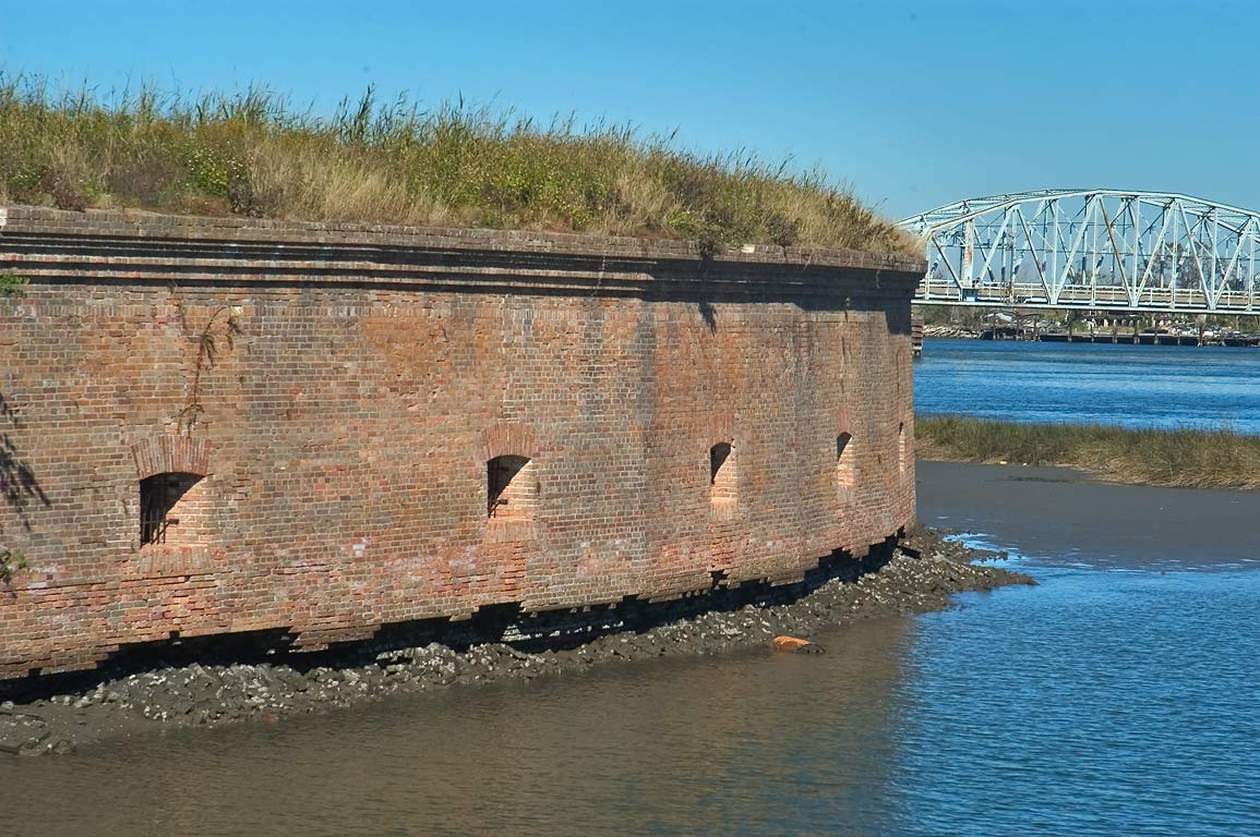 Fort Macomb near Venetian Isles. Eastern New Orleans, Louisiana