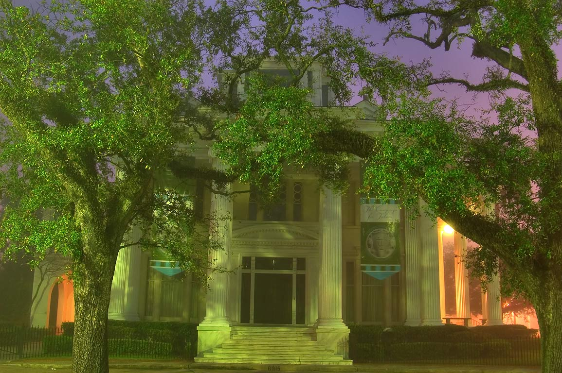 William T. Jay-Zemurray Mansion-Tulane President...Place in fog. New Orleans, Louisiana