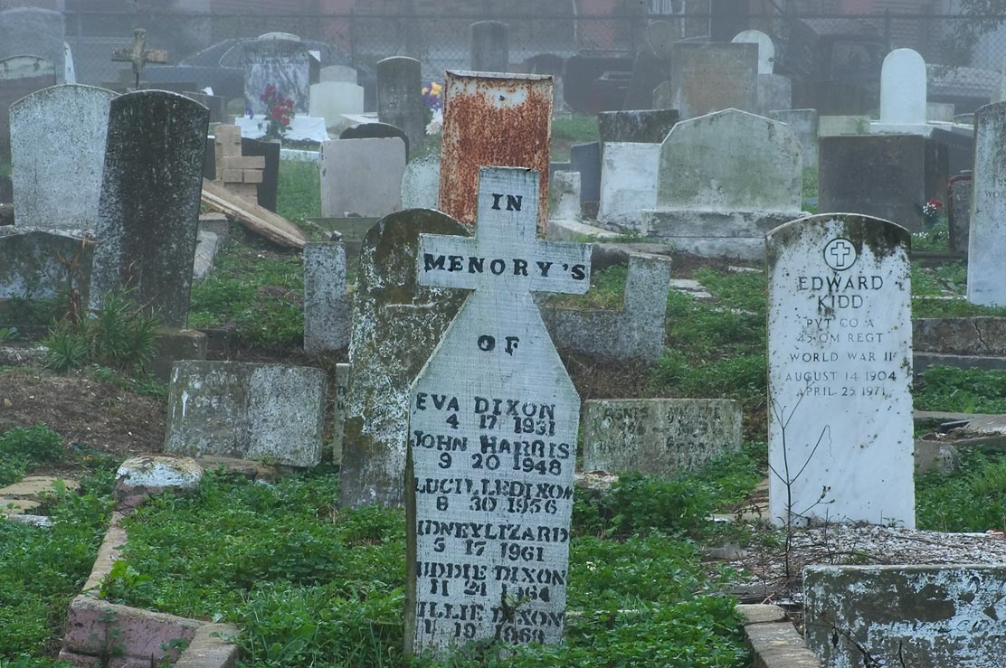 A misprint in an inscription on a cross in negro...at morning. New Orleans, Louisiana